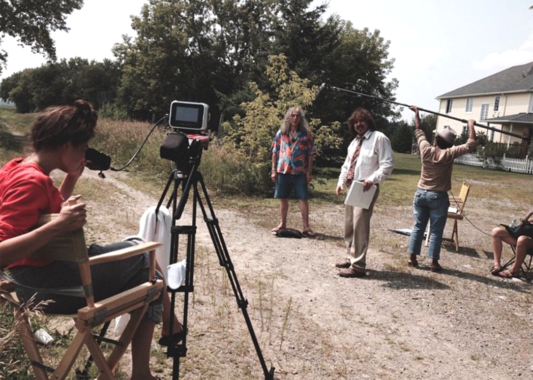Behind The Scenes during filming of Cotton String