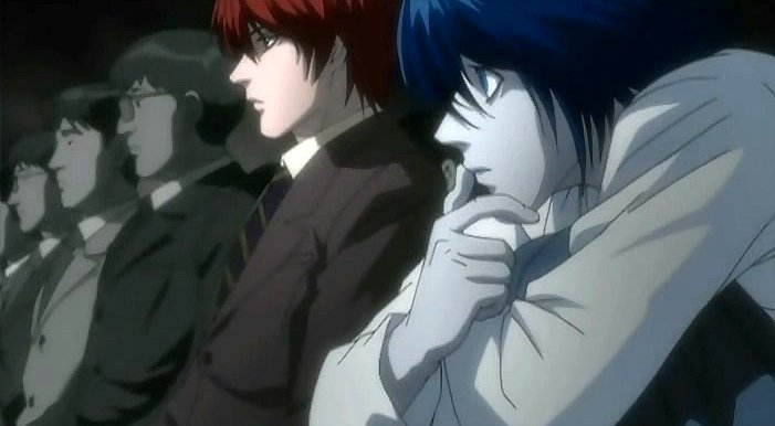 Light and L, Deathnote Anime
