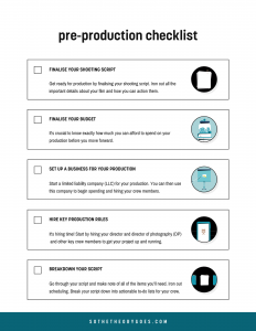 Pre-Production Checklist - Worksheet - Templates - Production